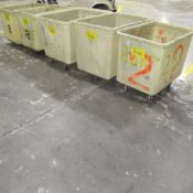LOT OF (5) PLASTIC BINS ON CASTERS (CENTER NORTH PLANT)