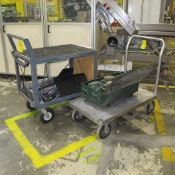 LOT OF (2) CARTS, ELECTRICAL AND ALUMINUM (NO CONTENTS) (NORTH PLANT, MACHINE SHOP ENTRANCE)