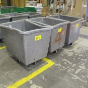 LOT OF (3) PLASTIC BINS ON CASTERS (CENTER NORTH PLANT)
