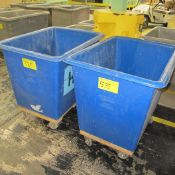 LOT OF (2) PLASTIC BINS ON CASTERS (CENTER NORTH PLANT)