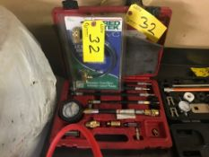 A/C RECHARGE HOSE KIT AND COMPRESSION KIT TESTER