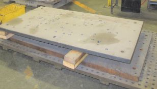 """LOT OF (2) STEEL PLATES APPROX 25"""" X 45"""" X 1"""" THICK"""