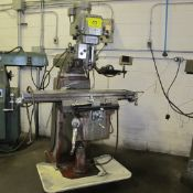 """FIRST LC-185VS VERTICAL MILLING MACHINE, 3HP, 10"""" X 50"""" TABLE, MITUTOYO 2-AXIS DRO"""