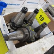 BOX OF (3) CAT 50 TOOL HOLDERS W/ ATTACHMENTS