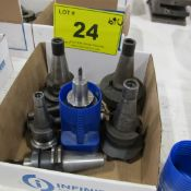 BOX OF (6) CAT 40/30 TOOL HOLDERS W/ ATTACHMENTS