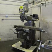 """FIRST LC-185VS VERTICAL MILLING MACHINE, 3HP, 10"""" X 50"""" TABLE, FAGOR 2-AXIS DRO"""