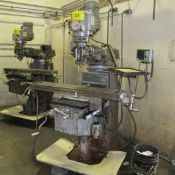 """FIRST LC-185VS VERTICAL MILLING MACHINE, 3HP, 10"""" X 50"""" TABLE, HEIDENHAIN 2-AXIS DRO, COLLET SET"""