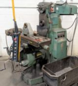 """SAJO UF-54DM UNIVERSAL MILLING MACHINE, 11"""" X 52"""" TABLE, 50 TAPER, S/N 681444 W/ ARBOR SUPPORTS"""
