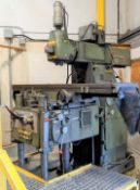 """CLEVELAND 5HM UNIVERSAL MILLING MACHINE, 18"""" X 84"""" TABLE, 50 TAPER, S/N 5055"""