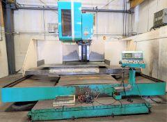 "DAHLIH MCV-1700 CNC VERTICAL MACHINING CENTER, FANUC SERIES 18-M CNC CONTROL, (32) ATC, 33"" X 68"""