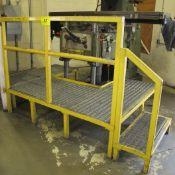 STEEL GRADED PLATFORM STAND, 2-STEP