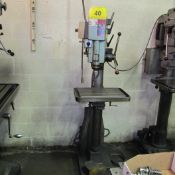 """STANDS SINGLE SPINDLE PEDESTAL DRILL PRESS, 19-1/2"""" X 13-1/2"""" TABLE, JACOBS CHUCK (RIGGING FEE $50)"""