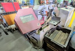 BEHRINGERMODEL HBB-221 HORIZONTAL BANDSAW, AUTO CLAMP, S/N 17814 (RIGGING FEE $300)