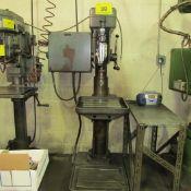 "ACIERA SINGLE SPINDLE PEDESTAL DRILL PRESS, 37-4000 RPM, 19-1/2"" X 20-1/2"" TABLE, HITI SPIRO"