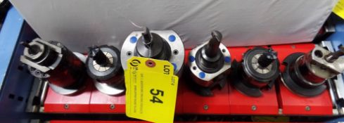 CAT 45 TOOL HOLDERS W/CUTTING ATTACHMENTS (TRAY HOLDER NOT INCLUDED)