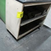 LOT OF (5) CABINETS W/LATHE TOOLING/FIXTURES