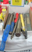 BOX OF REAMERS AND END MILLS