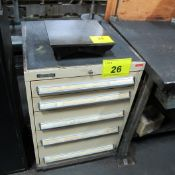 """KENNEDY 5 DRAWER TOOL CABINET W/ LATHE TOOLING & 12"""" METAL SURFACE PLATE"""