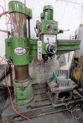 """KAO-MING MODEL KMR-1105S 4' RADIAL ARM DRILL W/ 24""""L X 17""""W X 16""""T TABLE, 117 TO 1524 RPM W/ QUICK"""
