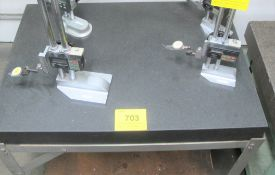 """APPROX. 3'L X 2'W X 4""""H GRANITE SURFACE TABLE"""
