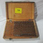 H1M PIN GAUGE SET, .061-.250