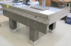 """APPROX. 6'L X 4'W X 8""""H GRANITE SURFACE PLATE/TABLE"""