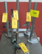 """LOT OF (6) MOORE & WRIGHT HEIGHT STANDS/GAUGES UP TO 18"""""""