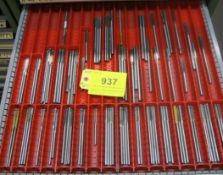 CONTENTS OF 1-DRAWER OF LISTA TOOL CABINET INCLUDING REAMERS (SUBJECT TO BULK BID LOT 933)