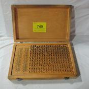 M1 PIN GAUGE SET, .061-.250