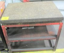 """APPROX. 3'L X 2'W X 6""""H GRANITE SURFACE PLATE/TABLE"""