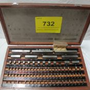 MITUTOYO BLOCK GAUGE SET 516-946-02, 1.10-100MM