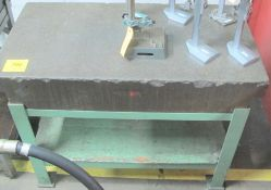 """APPROX. 4'L X 2'W X 8""""H GRANITE SURFACE PLATE/TABLE"""