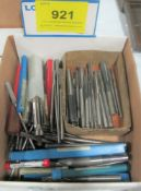 BOX OF REAMERS, COUNTER BORES, CUTTER BARS