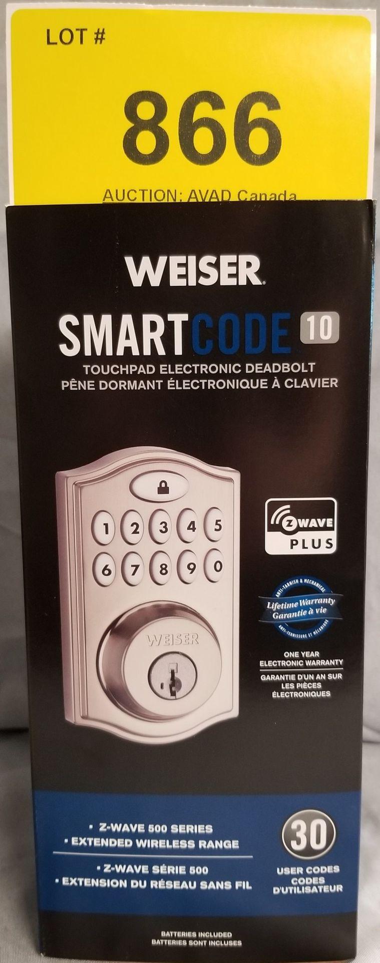 WEISER SMART CODE 10 TOUCHPAD ELECTRONIC DEADBOLT - (BNIB) MSRP $199