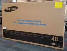 "SAMSUNG, 48"" PROFESSIONAL DISPLAY, MODEL: DB48E - (BNIB) COST $1371"
