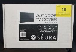 """SEURA, OUTDOOR TV COVER 47"""", MODEL: CVR-47.2-UB - (BNIB) MSRP $299"""