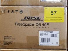 BOSE, FREESPACE DS40F, FLUSH MOUNT LOUDSPEAKER, WHITE - (BNIB) MSRP $220