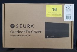 "SEURA, 75"" OUTDOOR TV COVER, MODEL: CVRSHD2-75 - (BNIB) MSRP $219"