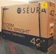 """SEURA, 42"""" STORM ULTRA BRIGHT OUTDOOR TV, MODEL: STRM-42-UB - (BNIB) MSRP $3,999"""