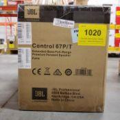 JBL, CONTROL 67P/T EXTENDED BASE FULL-RANGE PREMIUM PENDANT SPEAKER - (BNIB) MSRP $800 USD
