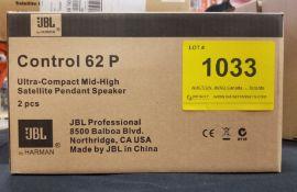 JBL, CONTROL 62 P SATELLIET PENDANT SPEAKER - (BNIB) MSRP $259 USD