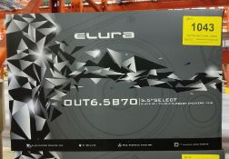 ELURA, OUT6.5B70 OUTDOOR SPEAKERS, PAIR - (BNIB) MSRP $479 USD