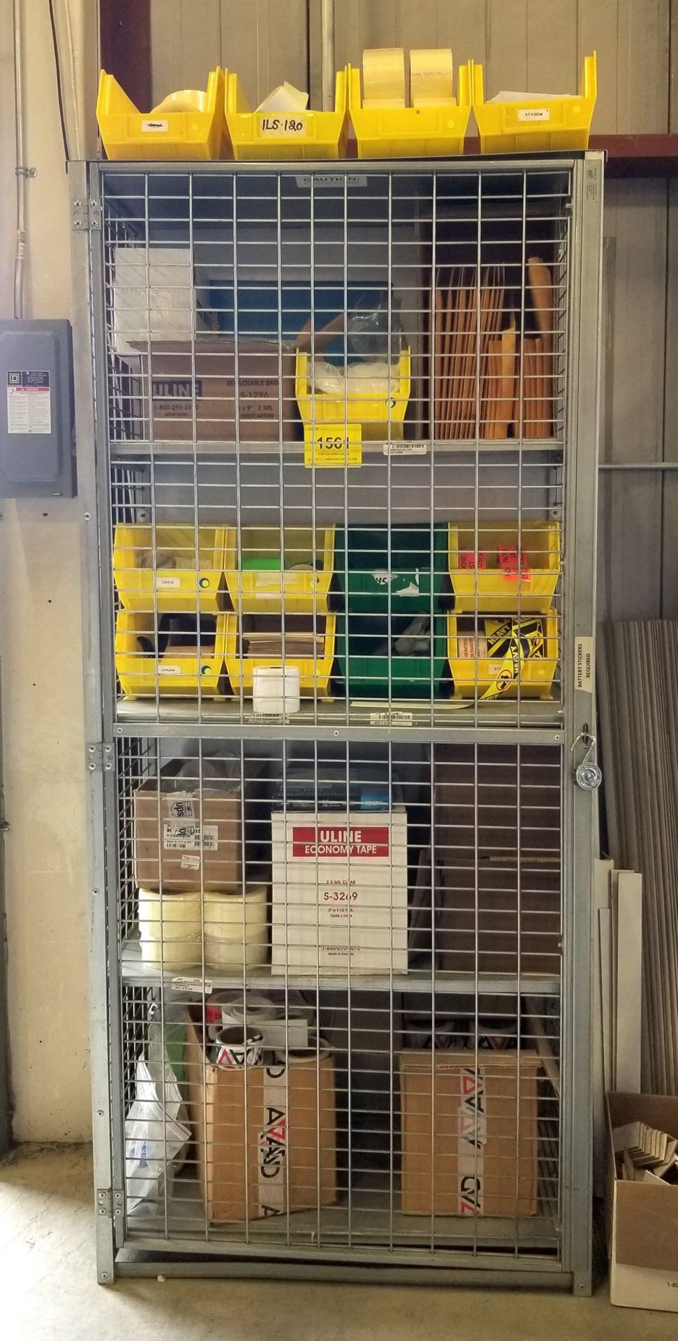 CAGE WITH SHIPPING SUPPLY CONTENTS - Image 2 of 6