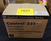 JBL, CONTROL 23T ULTRA COMPACT SPEAKER, PAIR (BNIB) MSRP $230 USD