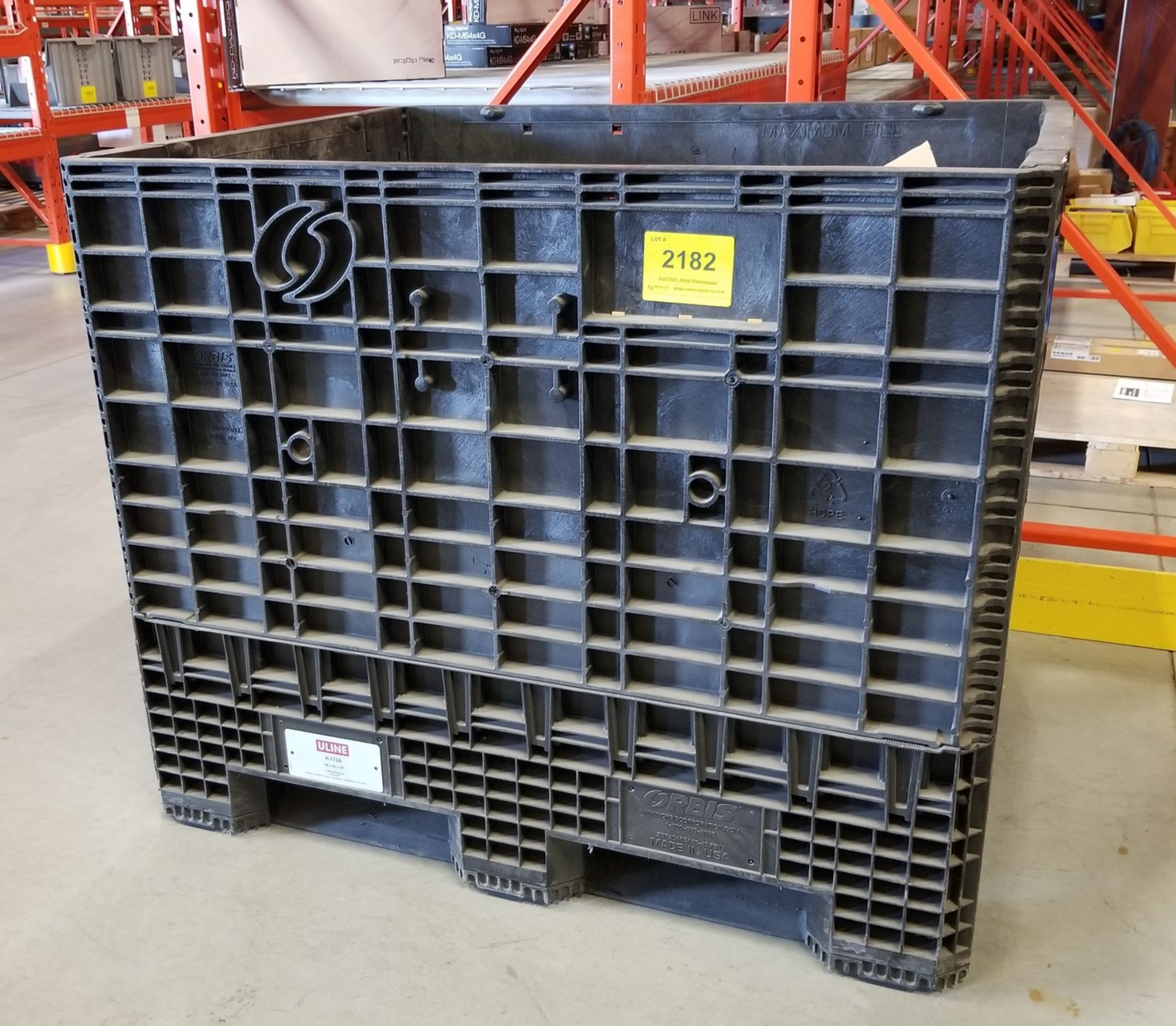 PLASTIC STOCK BIN WITH OPENING SIDES