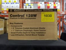 JBL, CONTROL 128W PREMIUM IN-WALL LOUDSPEAKER - (NOB) MSRP $550 USD