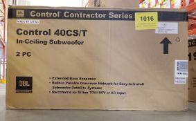 JBL, CONTROL 40CS/T IN CEILING SUBWOOFER - (BNIB) MSRP $628 USD