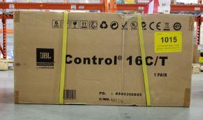 JBL, CONTROL 16C/T LOUDSPEAKERS, PAIR - (BNIB) MSRP $399 USD