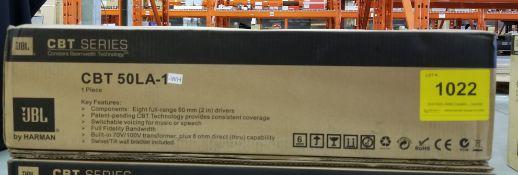 JBL, CBT 50LA-1-WH COLUMN LINE ARRAY LOUDSPEAKER - (BNIB) MSRP $510 USD
