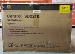 """JBL, CONTROL SB2210 DUAL 10"""" COMPACT SUBWOOFER - (NOB) MSRP $626 USD"""